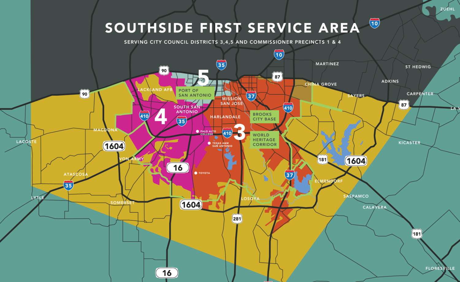 Southside First Service Map